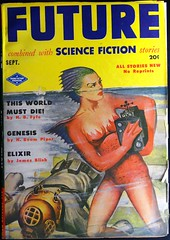 Future Science Fiction (September, 1951). Cover Art by Milton Luros