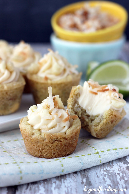 Key Lime Cheesecake Cookies | beyondfrosting.com | #keylime