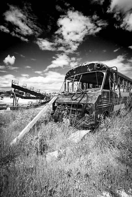 Abandoned Shuttle Monochrome