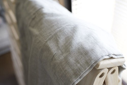 無印良品 organic cotton 枕カバーgrey