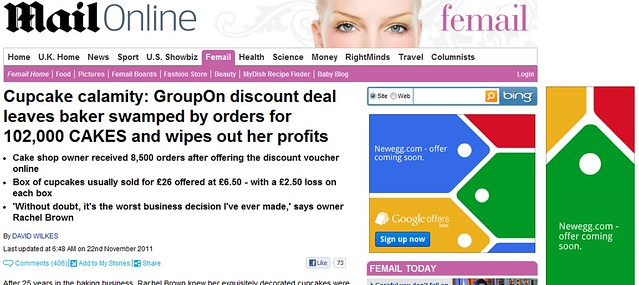 Google Offers ad on anti-Groupon story