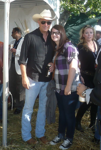 XOXO Jes with Kevin Costner at the Calgary Stampede