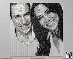 William & Kate Lego Mosaic