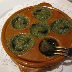 escargot with parsley and garlic butter