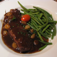 beef short ribs with haricot vert