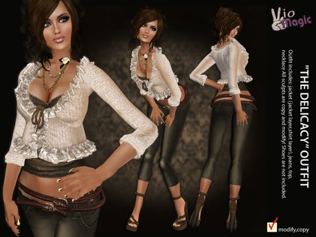 *VioMagic* The Delicacy Outfit, 189 lindens by Cherokeeh Asteria