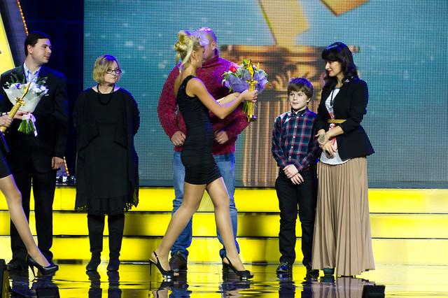 Тина Канделаки с сыном получают премию
