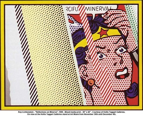"Roy Lichtenstein - ""Reflections on Minerva"", 1990 by artimageslibrary"
