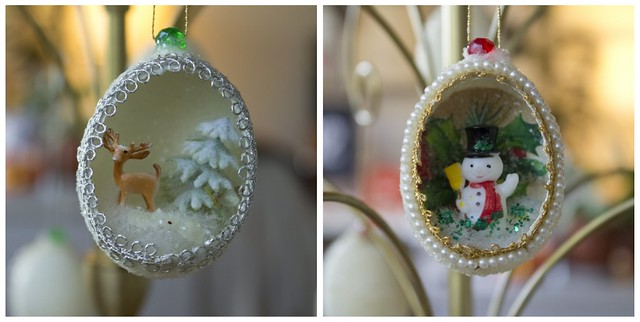 vintage egg ornaments