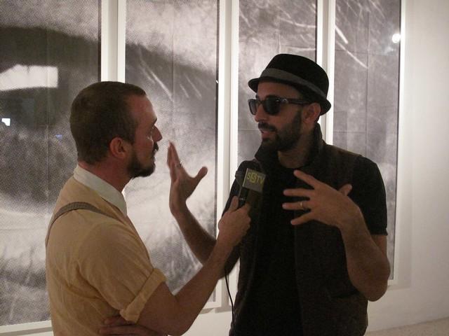 JR @ Galerie Perrotin - Art Basel Miami - Wynwood district 55TV INTERVIEW