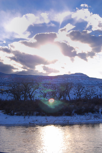sunset water clouds river nikon colorado brian grand junction acker d40x