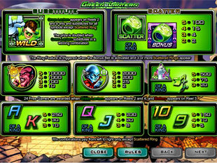 free Green Lantern slot payout