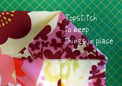 Grocery bag - topstitch