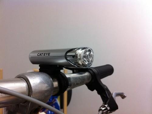 自転車のライトを新調