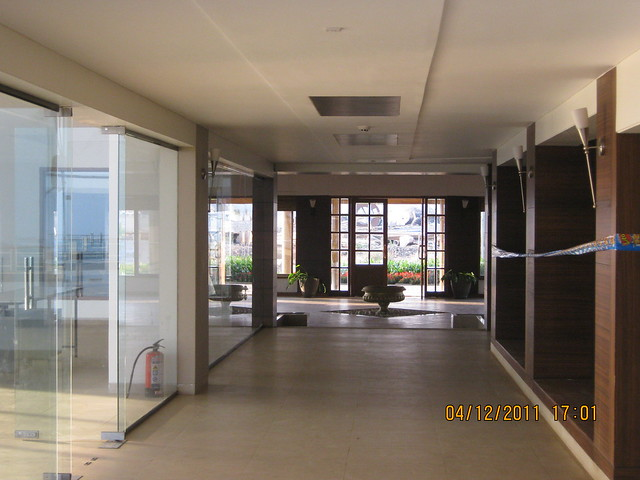 Entrance of the club house - Visit to Paranjape Schemes' Forest Trails, Bungalows, 2 BHK & 3 BHK Flats at Bhugaon, Pune 411 042