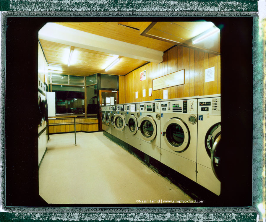 Interior of a laundrette