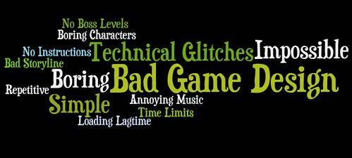 Bad Game Design Elements