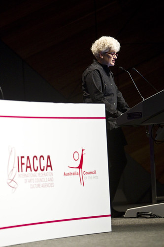Sarah Gardner, Executive Director of IFACCA at the closing of the 5th World Summit on Arts and Culture