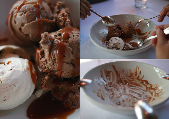chocolate merengue, mocha ice cream & espresso caramel sauce