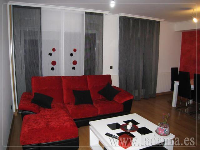 Decoraci n para salones modernos cortinas paneles for Modulos para salones modernos