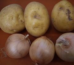 Potato Kugel - Potatoes and onions