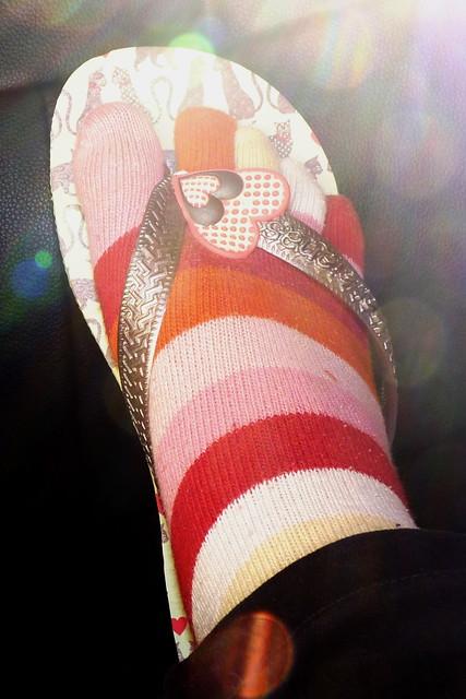 the way i wear flip flops in winter :)