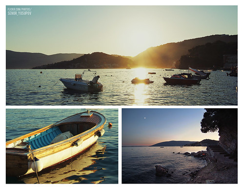 sunset sea montenegro hercegnovi