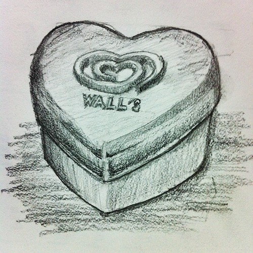 Heart Shaped Container sketch #sketch #drawing #sketchaday #pencil #stilllife #instagram #instagood #art #iphoneography #iphonegraphy