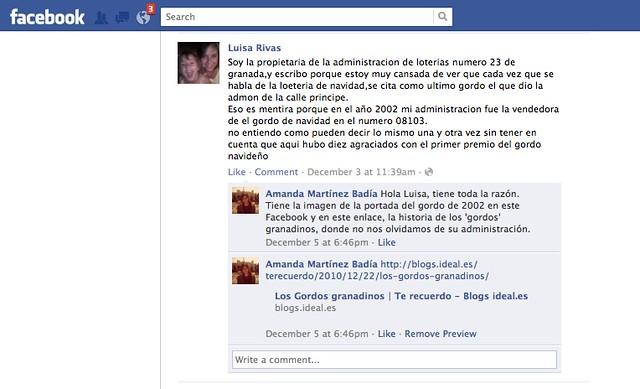 Facebook Luisa Rivas