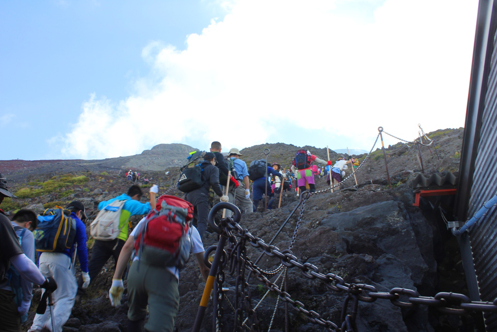 Mt. Fuji experience report (Yoshida route) Part2 (2)