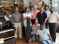The team of Thomsun Music in Deira (Dubai) + Miles Perry