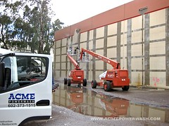 Paint Removal Using Boom Lifts by ACME POWERWASH