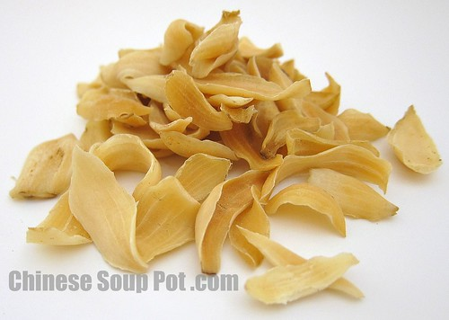 [photo - dried lily bulb bai he chinese herb]