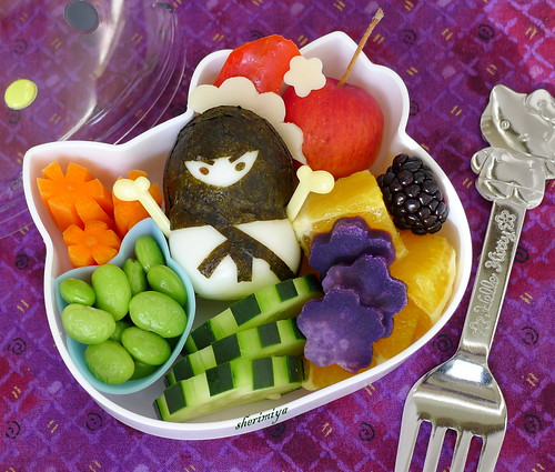 Ninja Snowman Snack Bento by sherimiya ♥