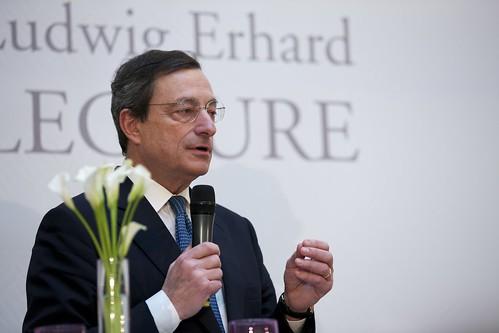 EZB-Chef Mario Draghi auf der IX. Ludwig Erhard Lecture