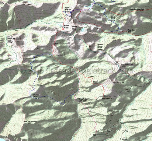Map of the Summit Trail/Summer Blossom area Okanogan-Wenatchee National Forest, Washington