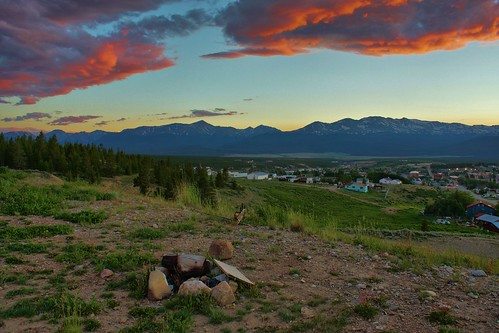 old sunset lake gold town colorado mine mining turquiose co leadville rusting hdr highdynamicrange