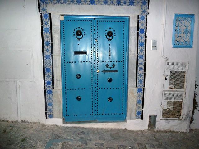Porte traditionnelle sidi bou said flickr photo sharing for Decoration porte sidi bou said
