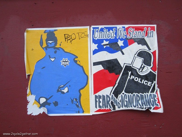 "Oaklan Street Art :: ""United We Stand In Fear & Ignorance"""