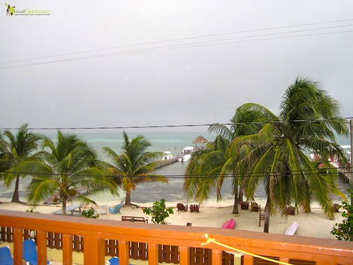 Caye Reef Hotel Family Review - Caye Caulker beach view