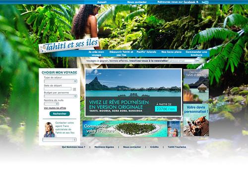 Mini-site Tahiti et ses îles (habillage nature)