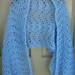 Small photo of Fluffy Blue Shawl