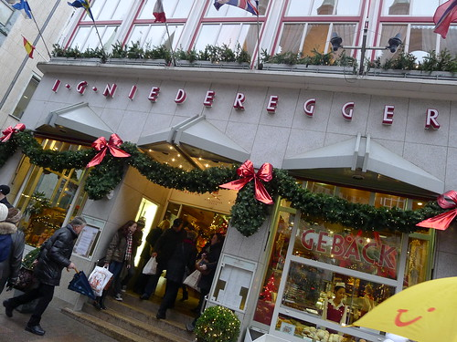 Niederegger Cafe in Lubeck (across from the market)