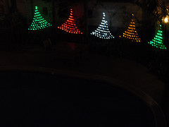 Watertower Christmas lights