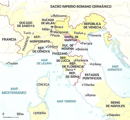 Mapa Europa época Francisco I