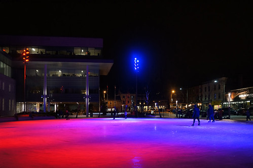 Skating Rink - red and blue by City of Guelph