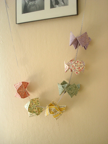 Fabric Cootie Catcher Garland