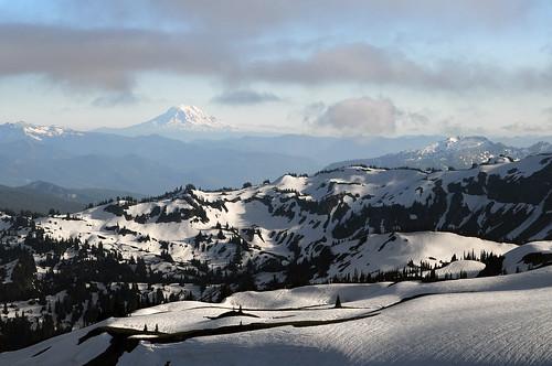 sun snow nationalpark mtadams mtrainier panhandlegap wonderlandtrail
