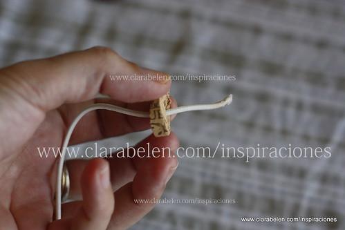 Pulsera con tapones de corcho y sujeta cortinas