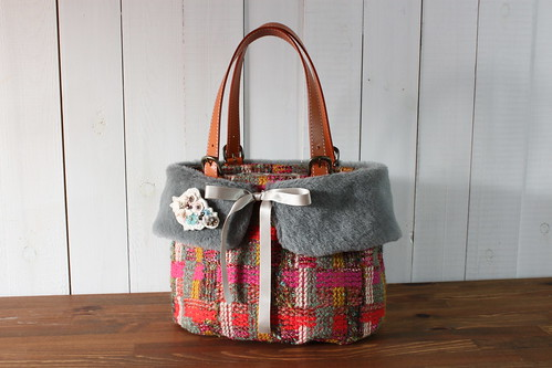 tweed bag_mix color